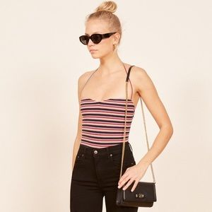Reformation Striped Pomme Halter Top